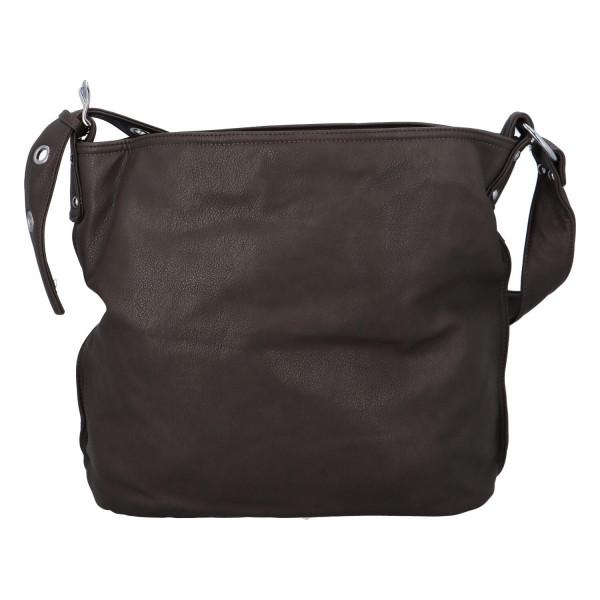 Praktická jednoduchá kabelka Kornelie, šedá