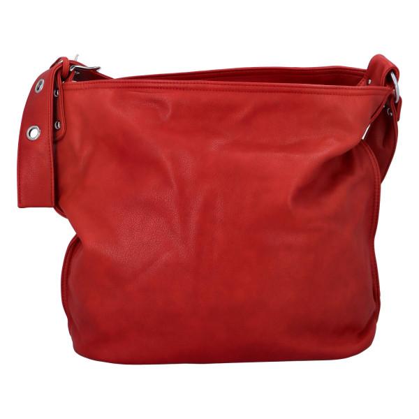 Praktická jednoduchá  kabelka Kornelie, červená