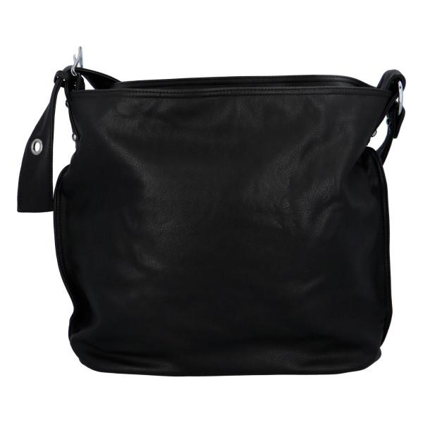 Praktická jednoduchá kabelka Kornelie, černá