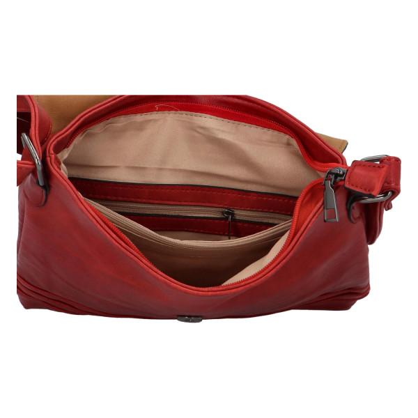 Crossbody kabelka s klopou Lane, červená