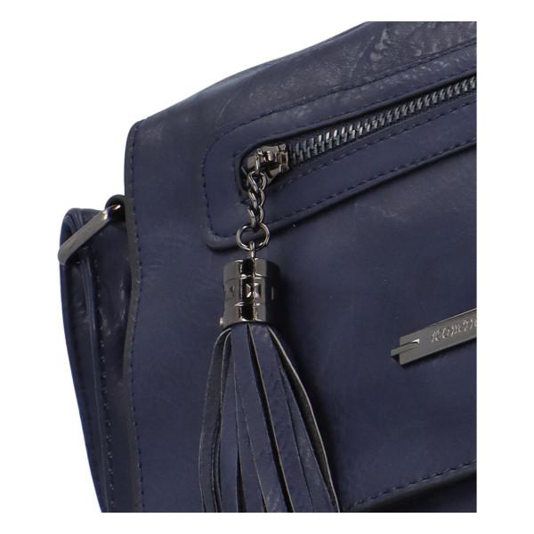 Crossbody kabelka s klopou Lane, modrá