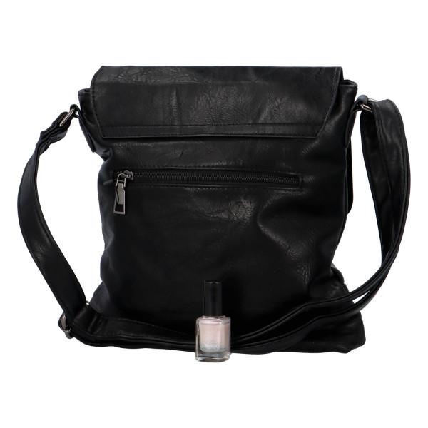 Crossbody kabelka s klopou Lane, černá
