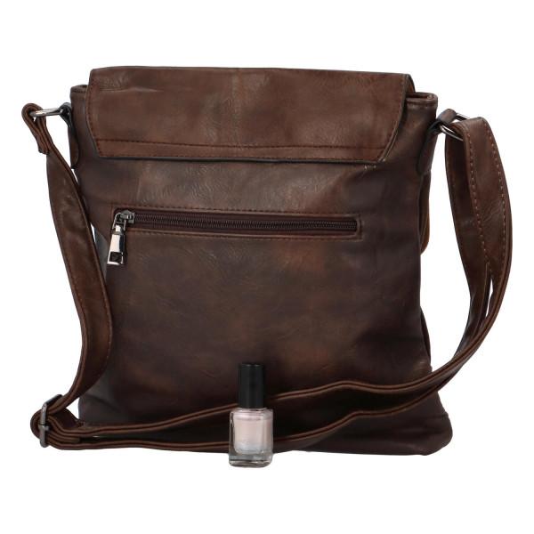 Crossbody kabelka s klopou Lane, tmavě hnědá
