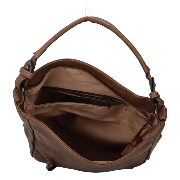 Módní dámská kabelka Turiana, světle hnědá