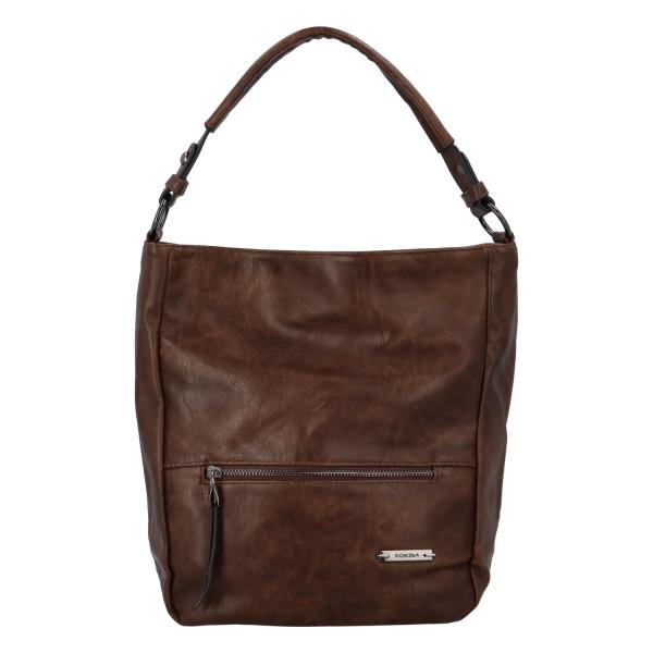 Módní dámská kabelka Turiana, tmavě hnědá