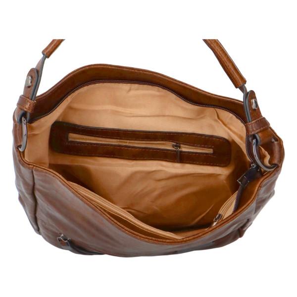 Módní dámská kabelka Turiana, hnědá