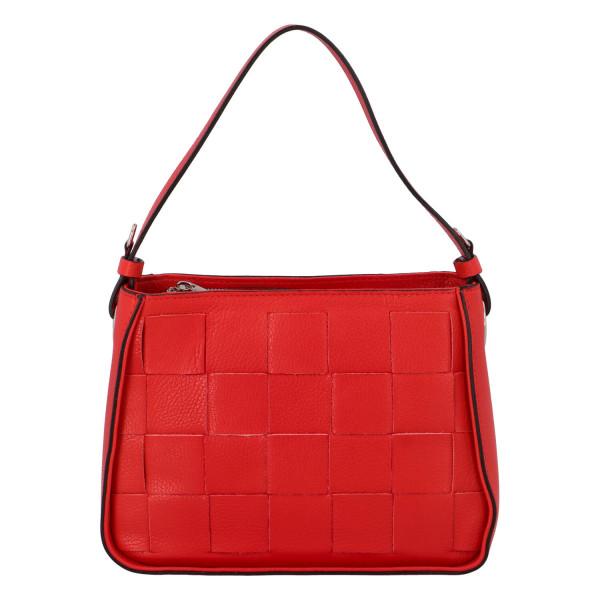 Stylová kožená kabelka Dorota, červená
