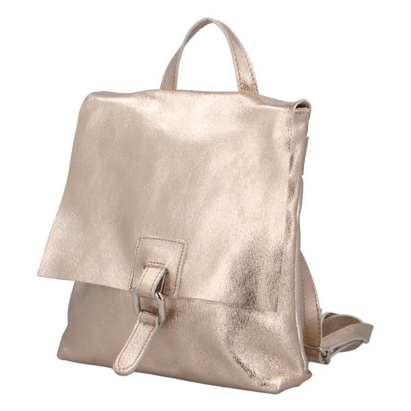 Dámský kožený batůžek Quido, zlatý