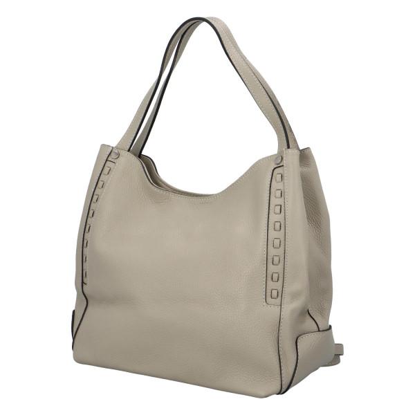 Praktická dámská kožená kabelka Cowgril, šedá