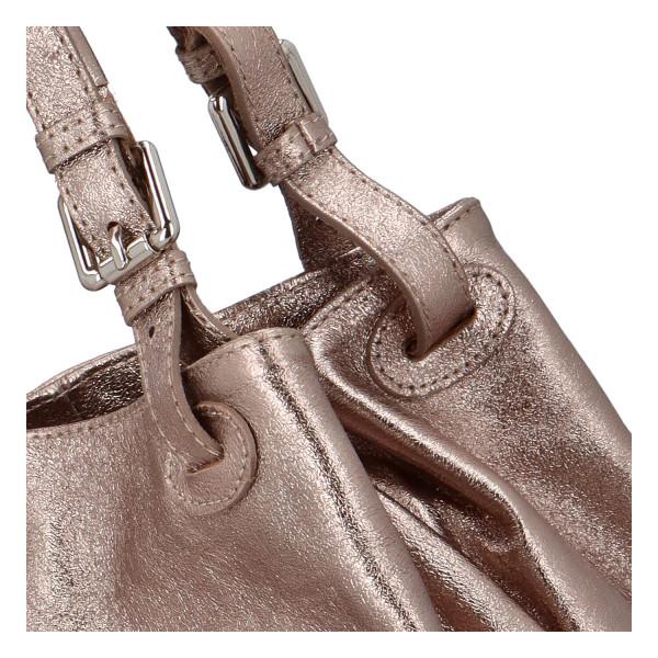 Třpytivá dámská kabelka Leia do ruky, bronzová
