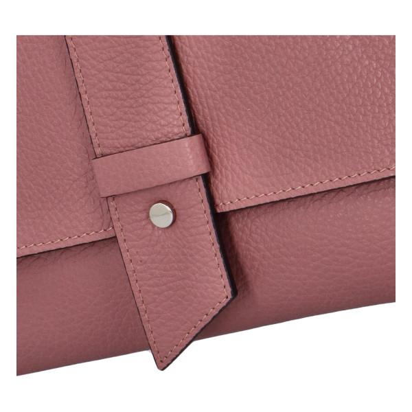 Elegantní kožené crossbody psaníčko Casimir, růžová