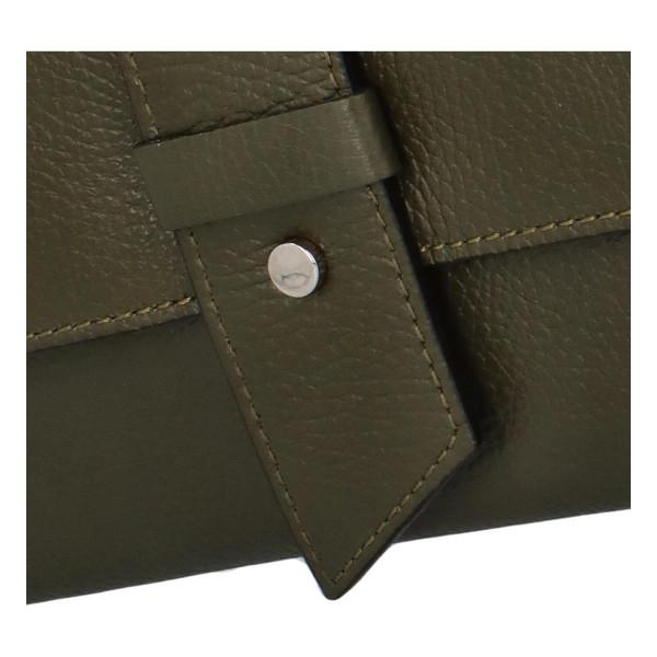 Elegantní kožené crossbody psaníčko Casimir, zelená
