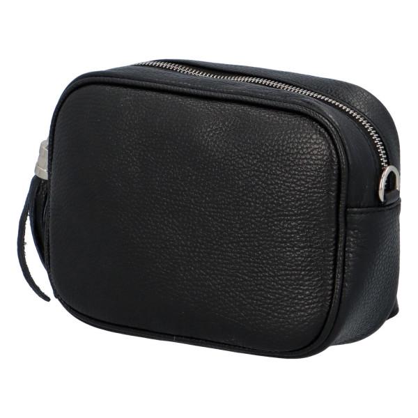 Trendy dámská kožená kabelka Melanie, černá