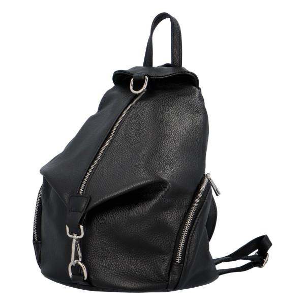 Stylový kožený dámský batoh Sonia, černá
