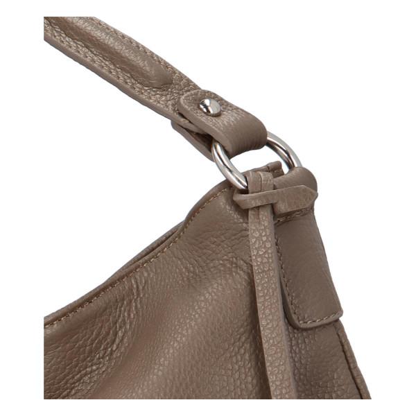 Krásná dámská kožená kabelka Lydie, taupe