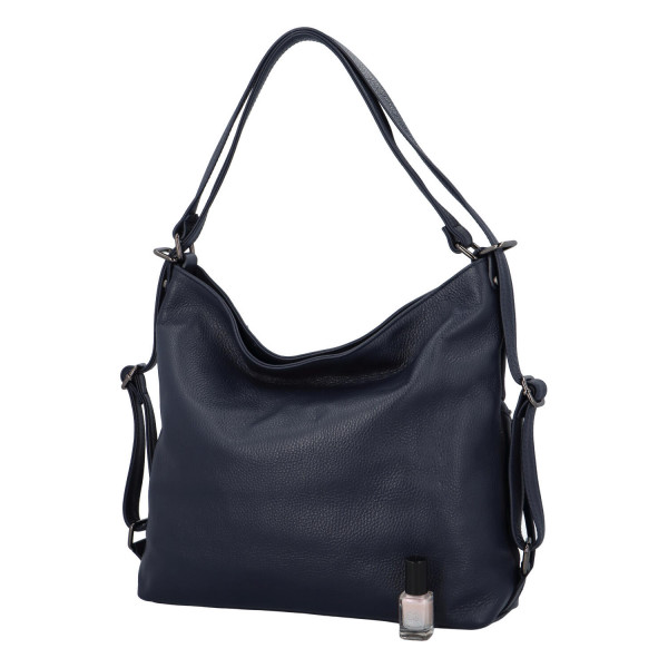 Exkluzivní kožená kabelka Nathalie, modrá
