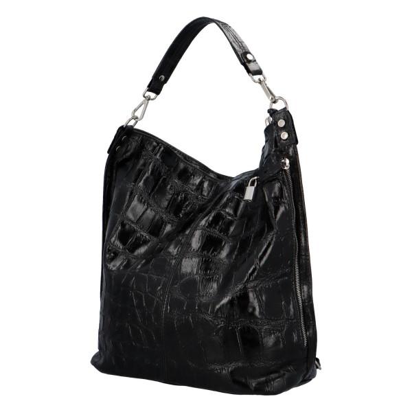 Extravagantní kabelka z kůže Noemi, černá