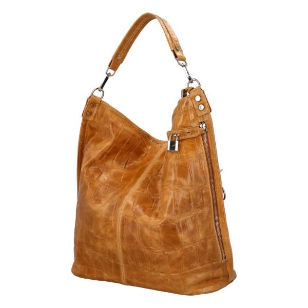 Extravagantní kabelka z kůže Noemi, cuoio