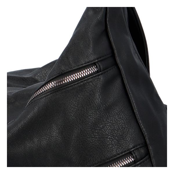 Stylová koženková crossbody kabelka Ingrid, černá