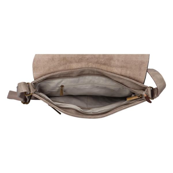 Stylová dámská kabelka Isla přes rameno, zemitá