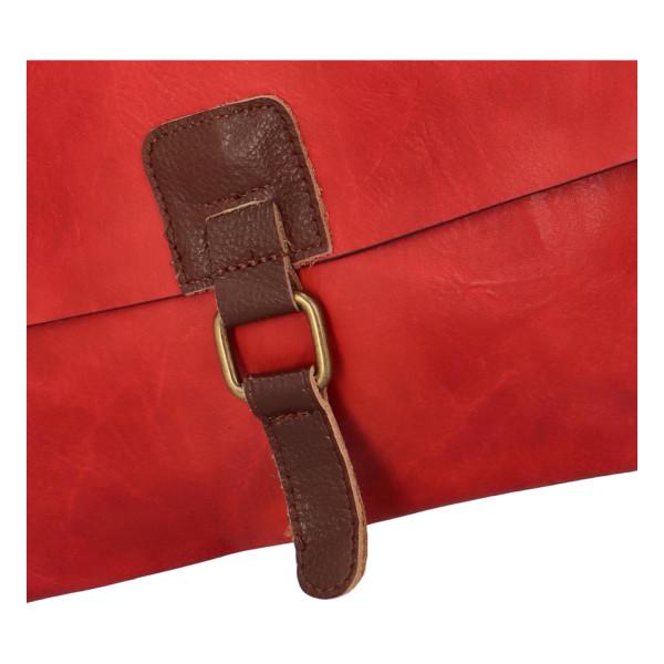 Stylová dámská kabelka Isla přes rameno, červená