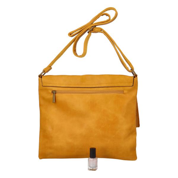 Stylová dámská kabelka Isla přes rameno, žlutá