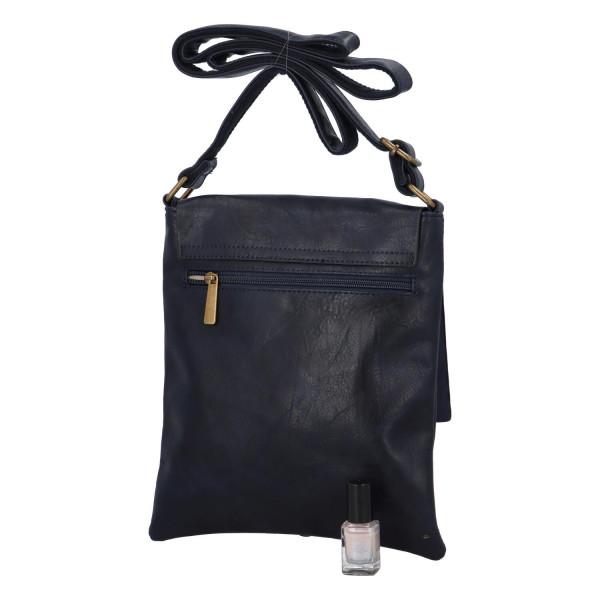 Elegantní koženková crossbody kabelka Livia, modrá
