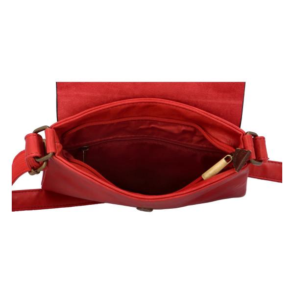 Elegantní koženková crossbody kabelka Livia, červená