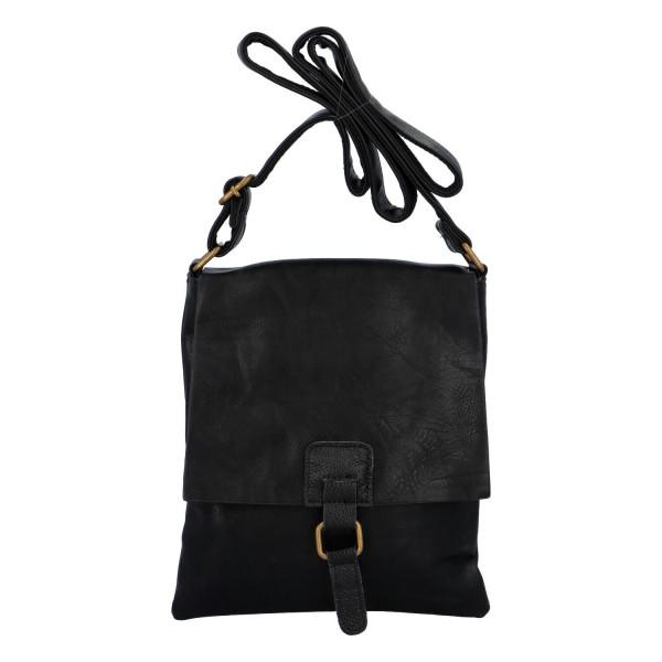 Elegantní koženková crossbody kabelka Livia, černá