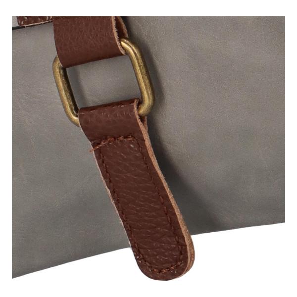 Elegantní koženková crossbody kabelka Livia, šedá