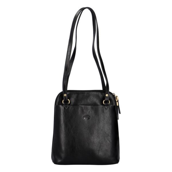 Luxusní kožený kabelko batoh 2 v 1 Katana deluxe, černý