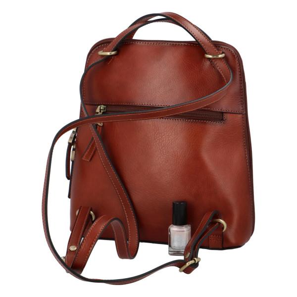 Luxusní kožený kabelko batoh 2 v 1 Katana deluxe, hnědý