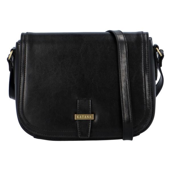 Luxusní dámská kožená kabelka Katana Louis, černá