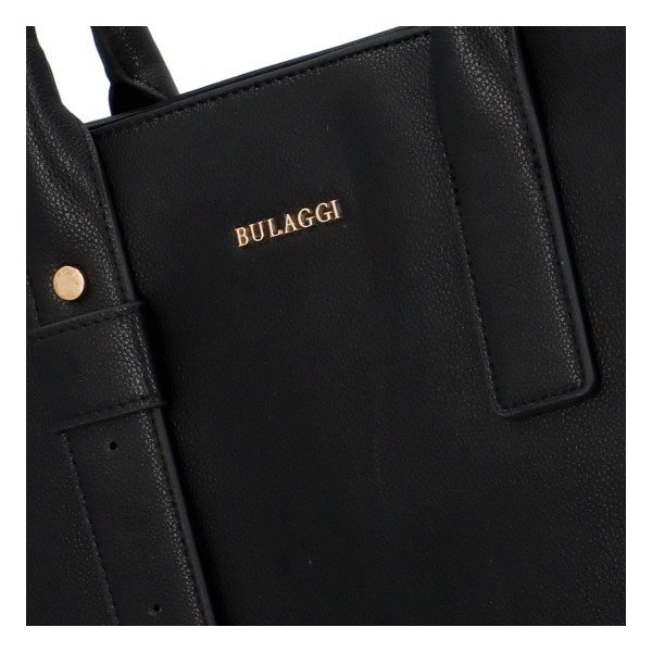 Dámská koženková kabelka BULAGGI Basalt, černá