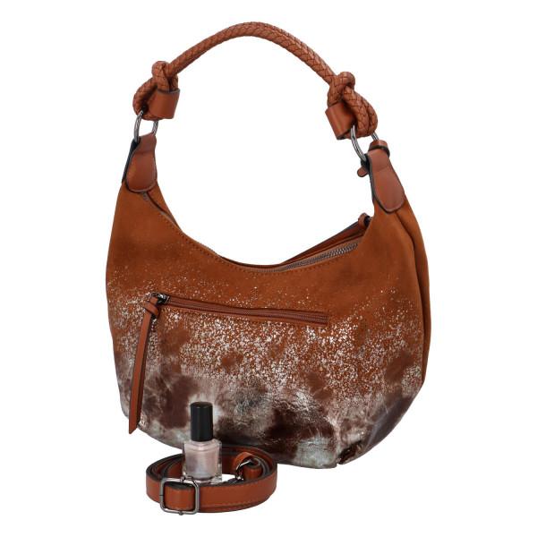 Dámská koženková kabelka BULAGGI Flame, hnědá