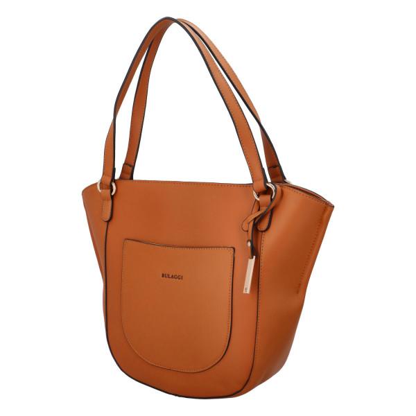 Dámská koženková kabelka BULAGGI shopping Acorn, hnědá