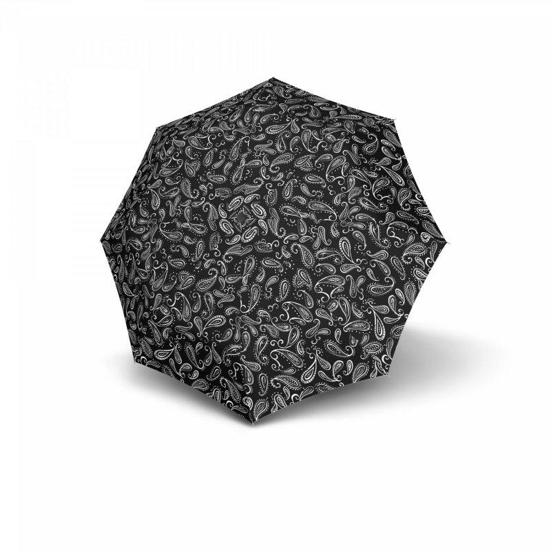Dámský skládací deštník Mini Fiber Black a White