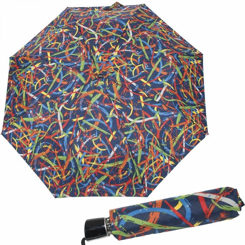 Mini Fiber Expression - dámský skládací deštník, modrý