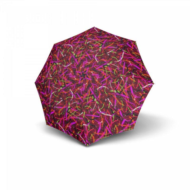 Mini Fiber Expression - dámský skládací deštník, vínová