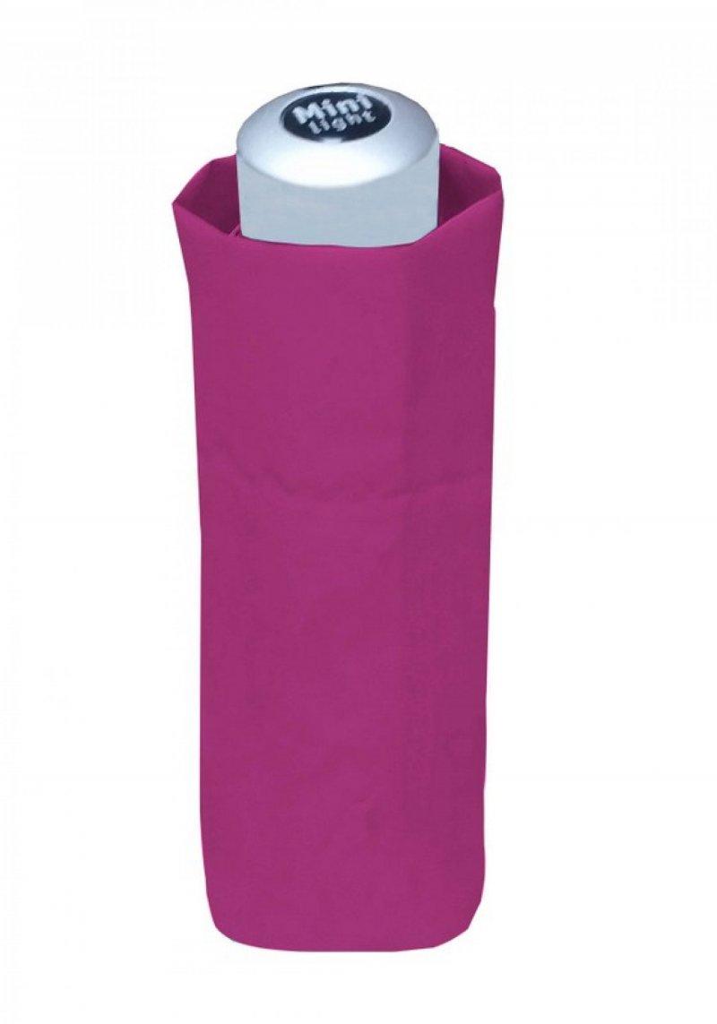 Mini Light Uni - dámský/dětský skládací deštník, růžový