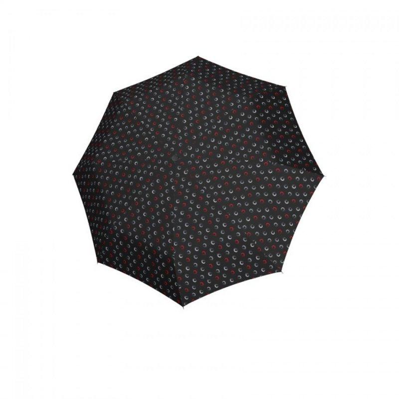 Hit Mini Highlight - dámský skládací deštník, černý