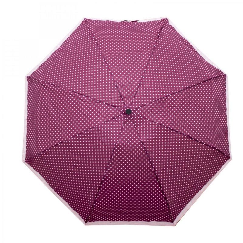 Mini Micro Dot's - dámský skládací deštník, 01 puntíky vínový