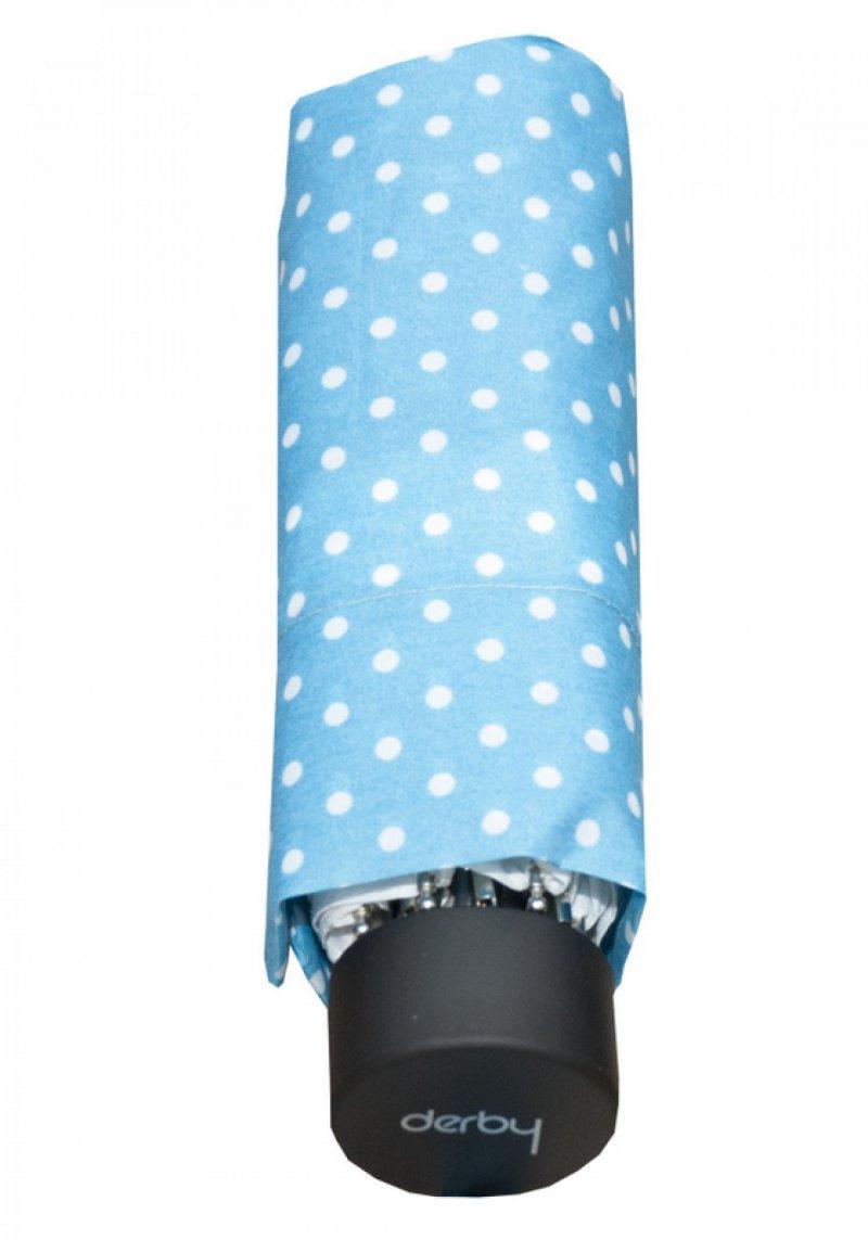Mini Micro Dot's - dámský skládací deštník, 02 modrý puntíky