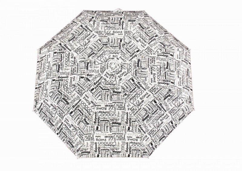 Mini Hit Graffity - Města dámský skládací deštník, 05 černo bílý