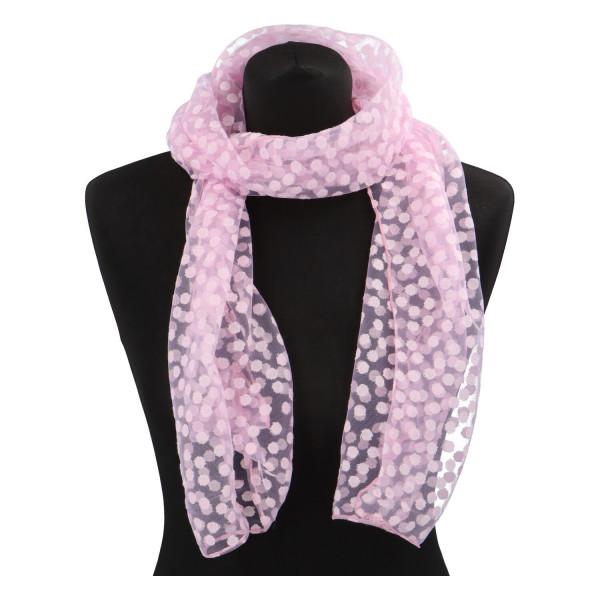 Elegantní letní šátek Lia kolem krku, růžová