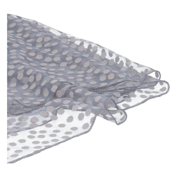 Elegantní letní šátek Lia kolem krku, šedá
