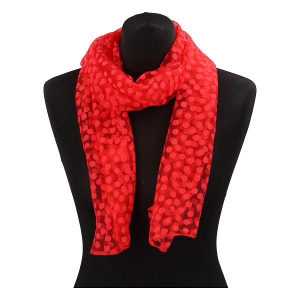 Elegantní letní šátek Lia kolem krku, červená
