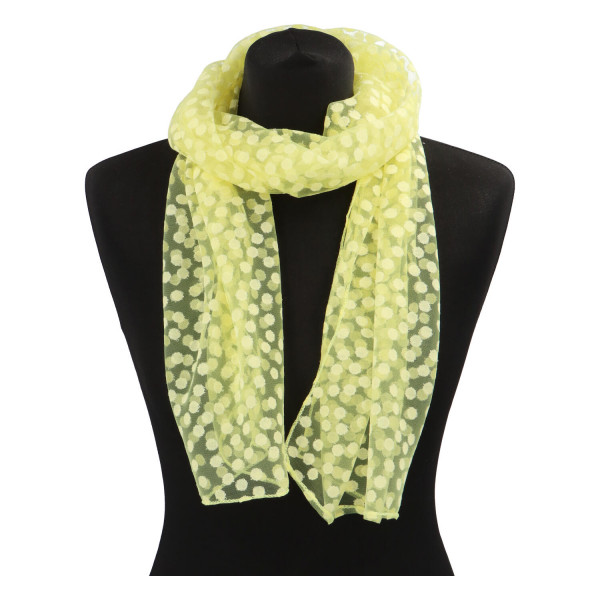 Elegantní letní šátek Lia kolem krku, žlutá