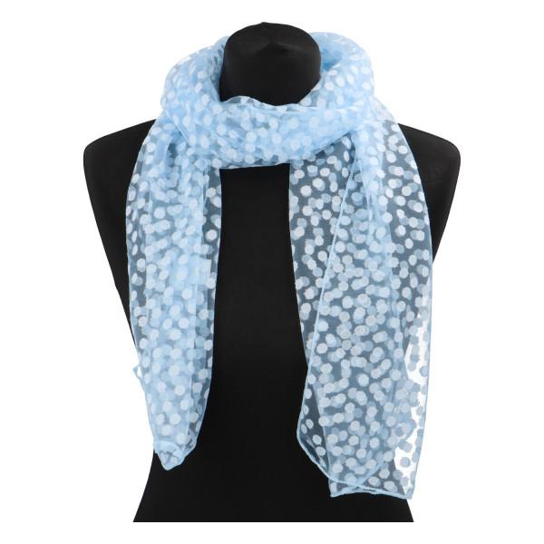 Elegantní letní šátek Lia kolem krku, světle modrá