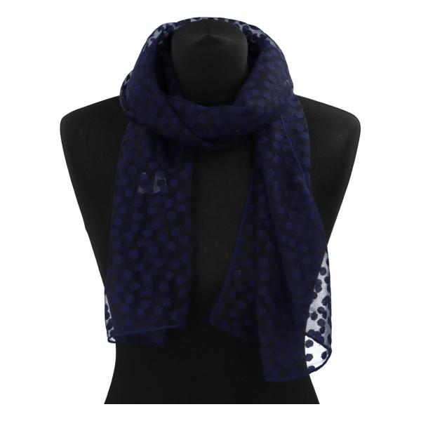 Elegantní letní šátek Lia kolem krku, tmavě modrá
